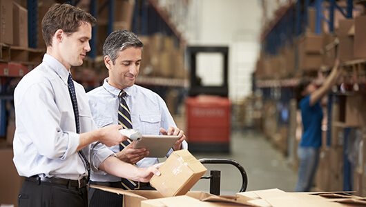 Using digital devices in a warehouse