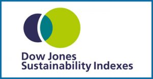 Logo Dow Jones Sustainability Indices and Robeco Sam Gold Class 2016