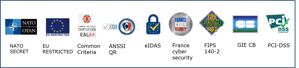 Atos cybersecurity products qualifications and certifications