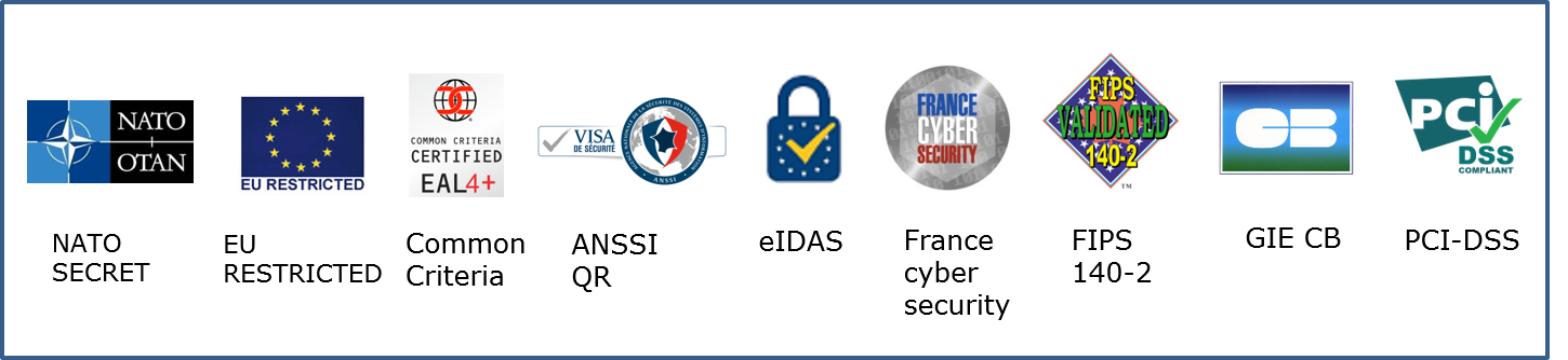 Atos cybersecurity Logo products certifications