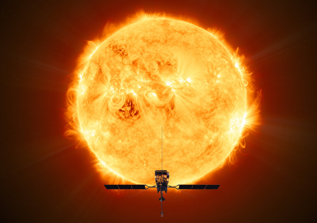 Solar Orbiter à proximité du soleil