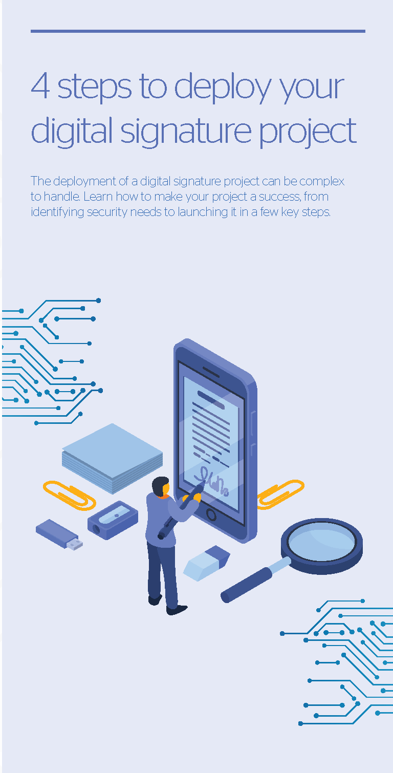 Atos cybersecurity Digital signature infographic