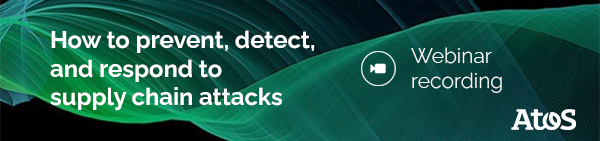 Atos cybersecurity webinar supply chain replay banner